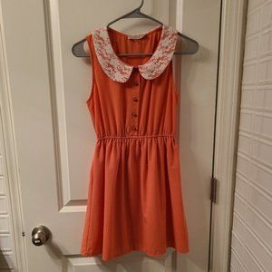 Modcloth Sheer Coral Dress Size Small